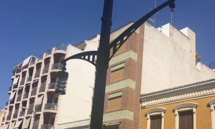 Farola rota en Calle Cánovas del Castillo