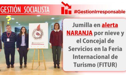 El Concejal de Servicios y Obras del Ayuntamiento de Jumilla, en FITUR,  el municipio en alerta naranja