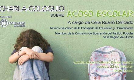 """""""Este próximo Jueves el Centro Socio-cultural Roque Baños acoge una charla coloquio sobre el Acoso Escolar""""."""