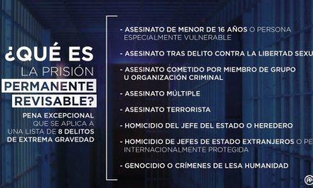 El Grupo Municipal Popular presenta una moción para apoyar y defender la prisión permanente revisable