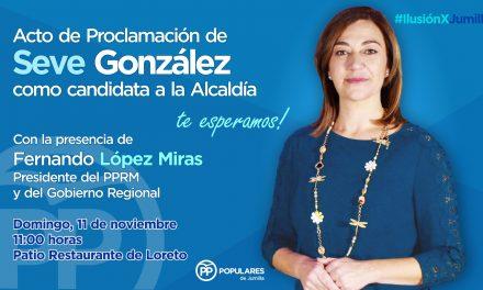 Seve González será proclamada este domingo candidata del Partido Popular a la alcaldía de Jumilla