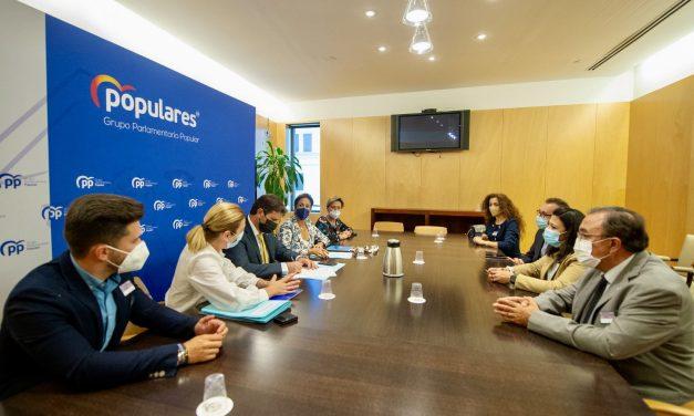El PP de Jumilla se reúne en Madrid con diputados nacionales para abordar temas de interés general para el municipio.